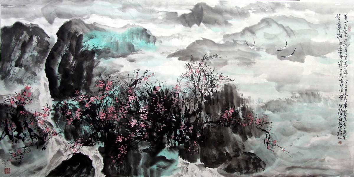 国画作品 >         宋雨桂syg 写意山水