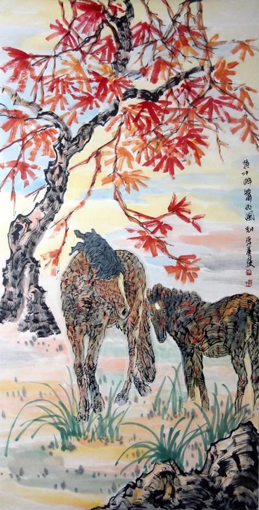 李蒸蒸lzz 动物字画作品